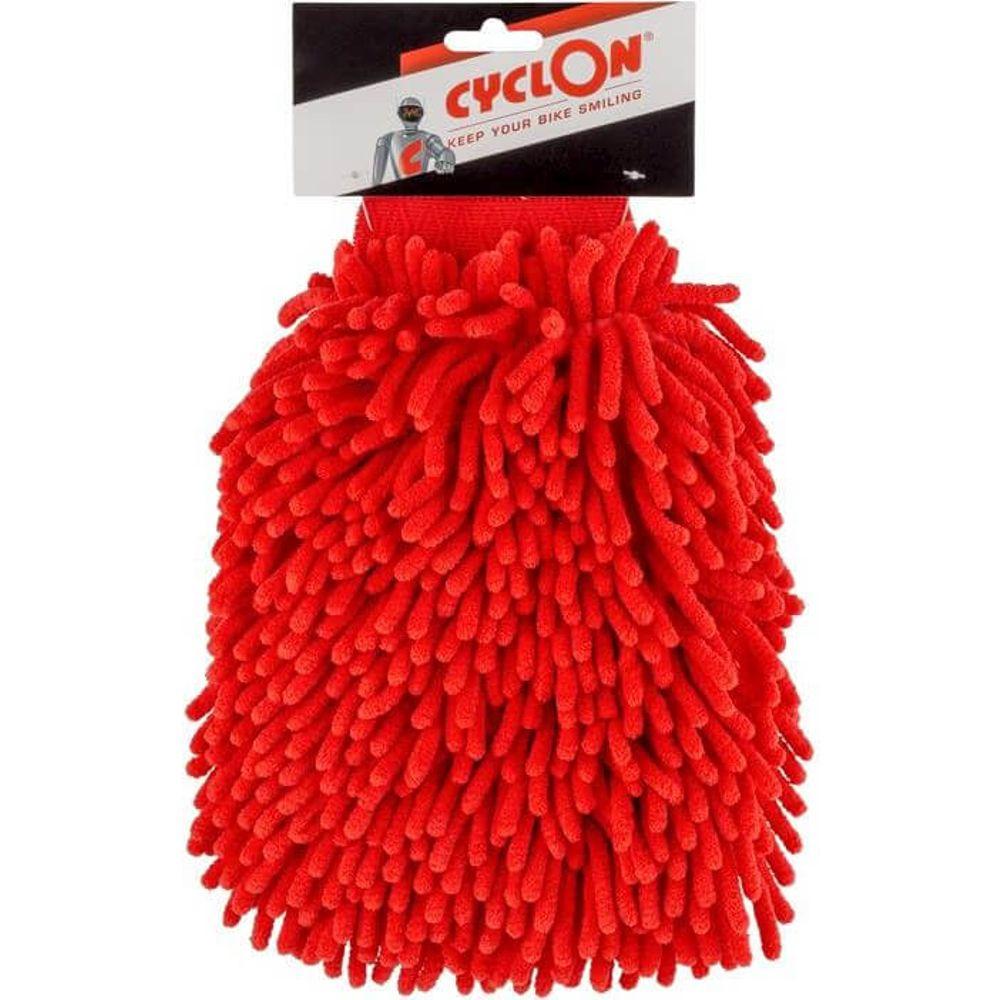 Microvezel washandschoen Cleaning Glove - Red