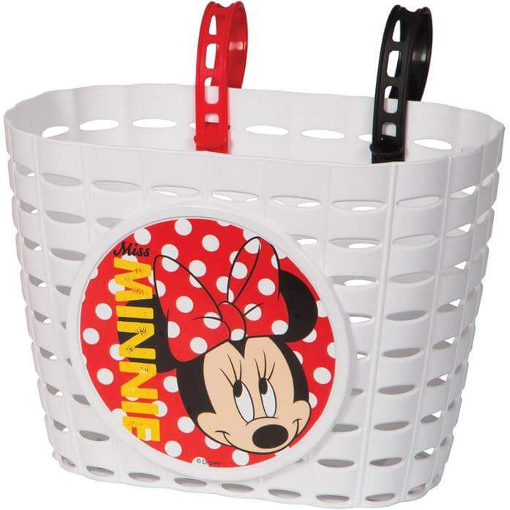 Widek fietsmandje pvc Minnie Mouse wit