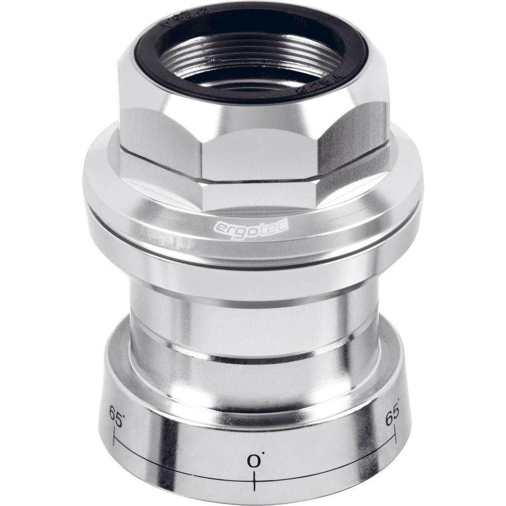 Ergotec balhoofd set draad A118GC-ES + lock 1/8 zilver