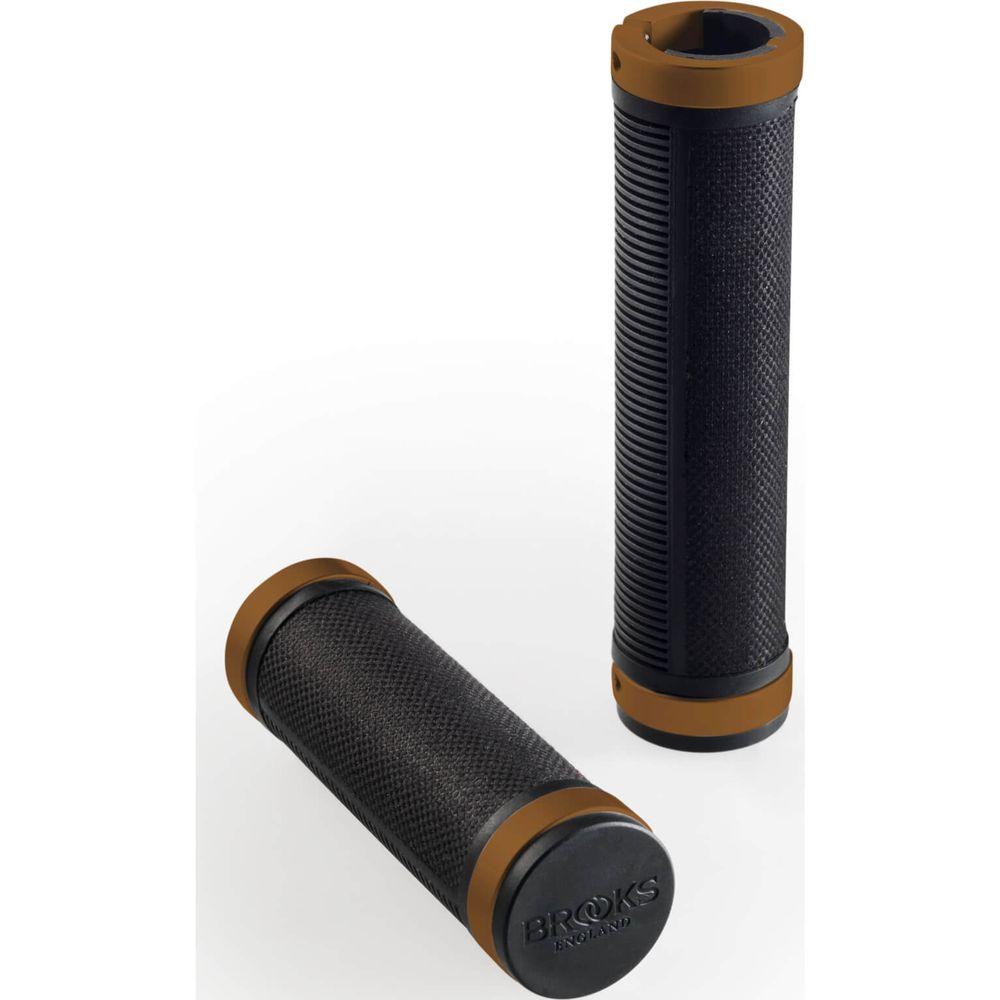 Brooks Cambium grips 130/130 black/orange