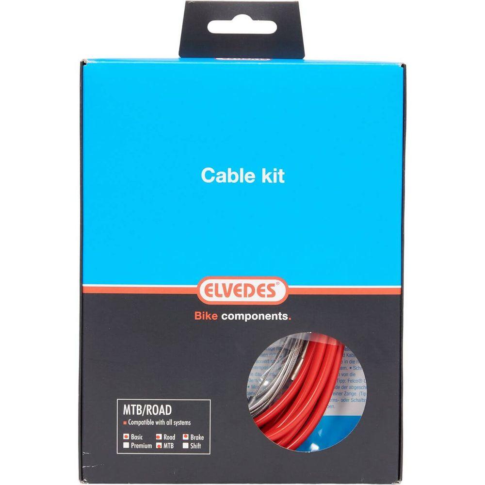 Elvedes atb / race kabelset rem basic �5,0mm rood