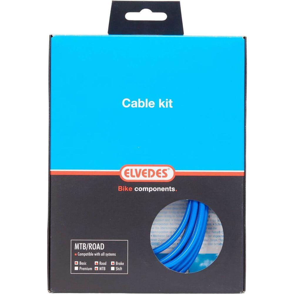 Elvedes atb / race kabelset rem basic �5,0mm blauw