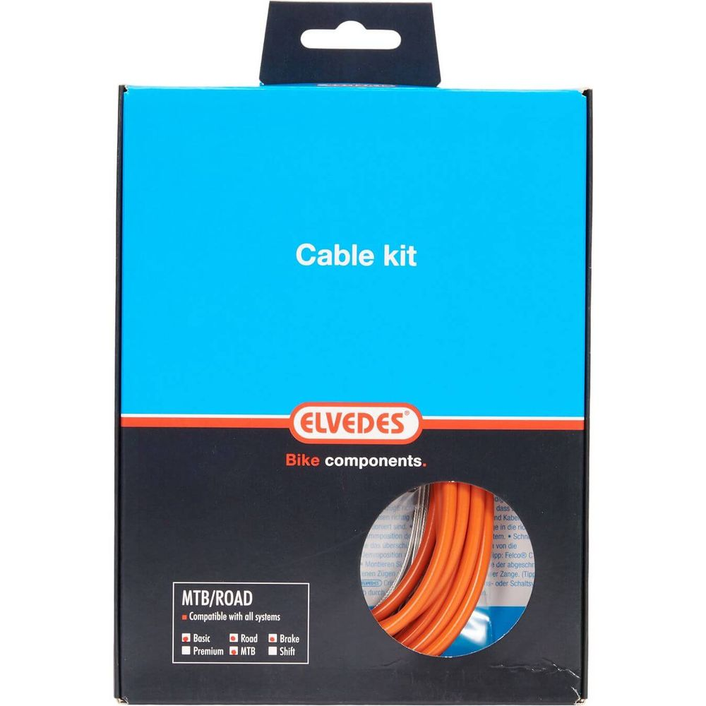 Elvedes atb / race kabelset rem basic �5,0mm oranj