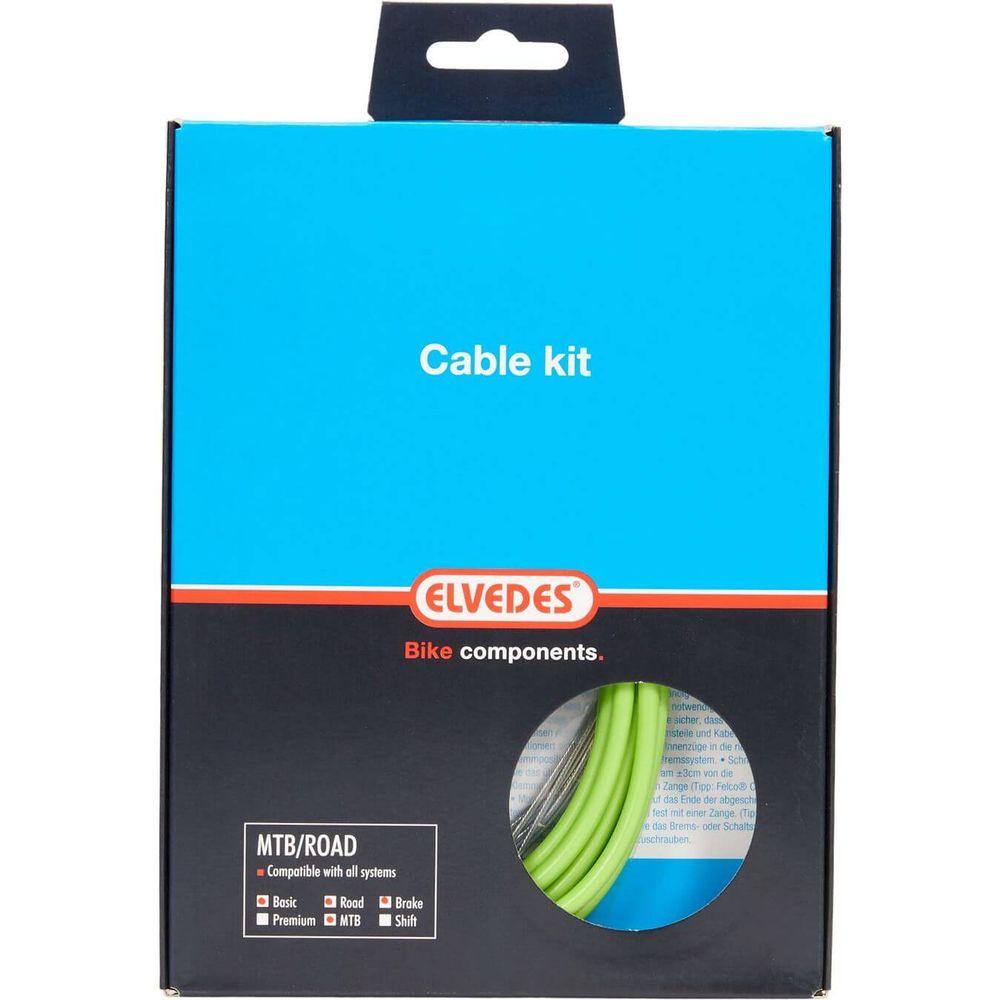 Elvedes atb / race kabelset rem basic �5,0mm groen
