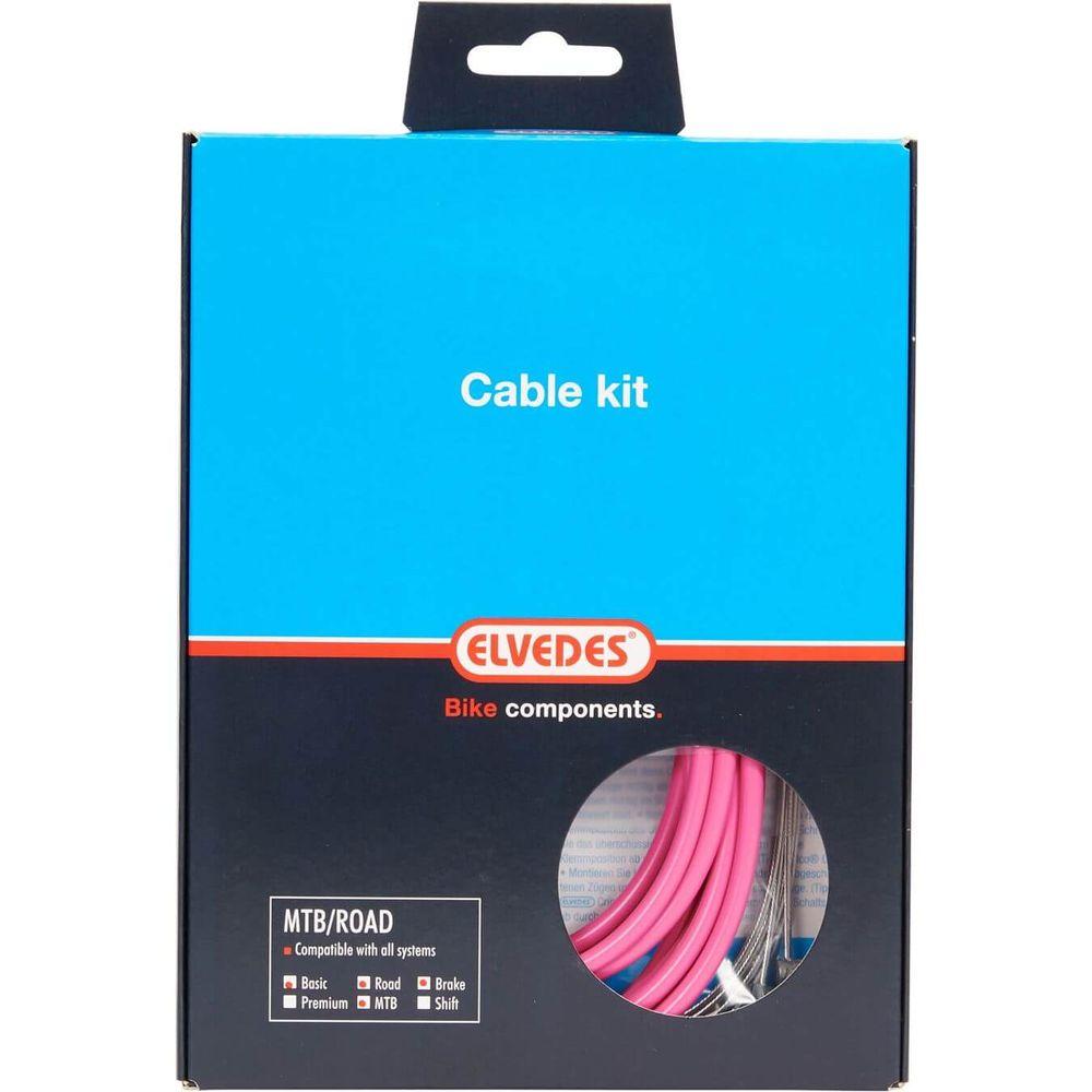 Elvedes atb / race kabelset rem basic �5,0mm roze