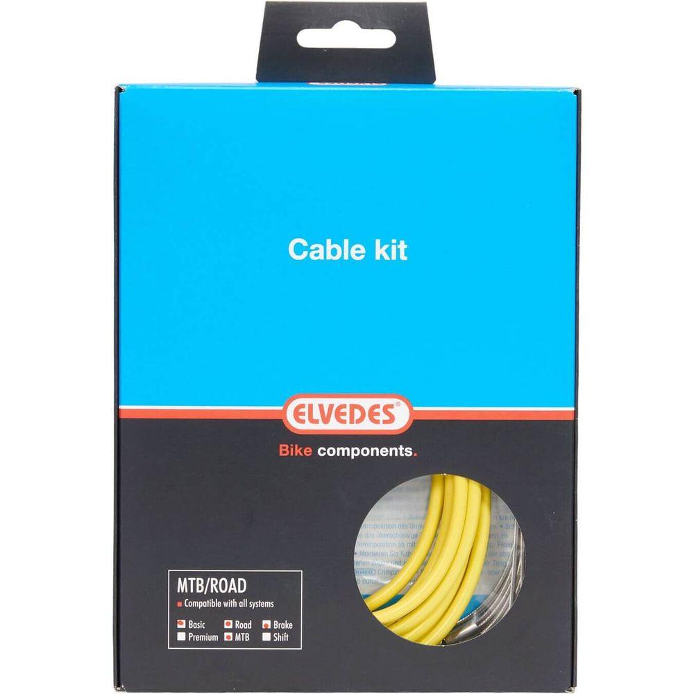 Elvedes atb / race kabelset rem basic �5,0mm geel
