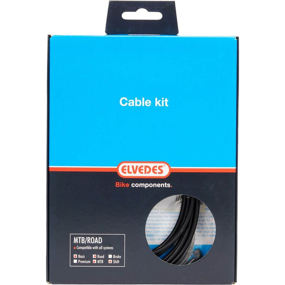 Elvedes remkabel kit Pro ATB/RACE zwart