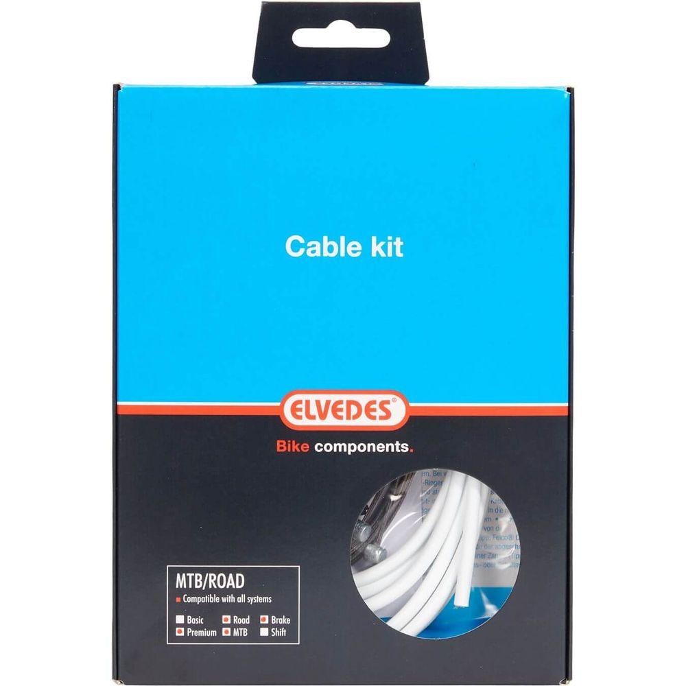 Elvedes remkabel kit Pro ATB/RACE wit