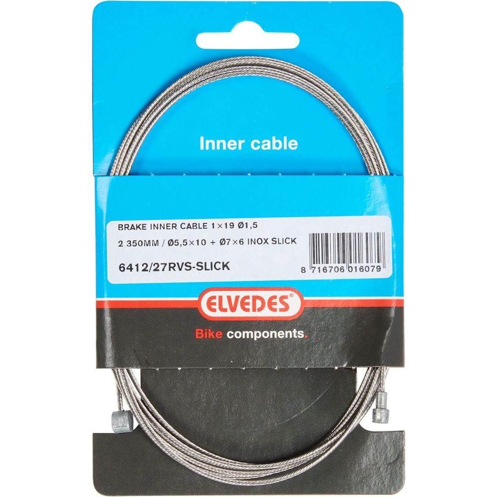 Elvedes rem binnenkabel rvs Slick 2 nippels ton 7x6 peer 5.5