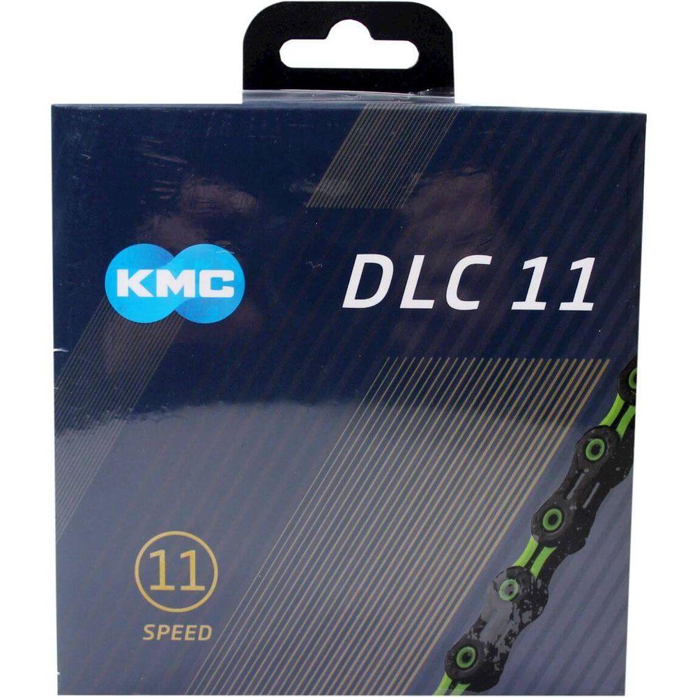 Kmc ketting 11-speed dlc 11 118 links zwart/groen