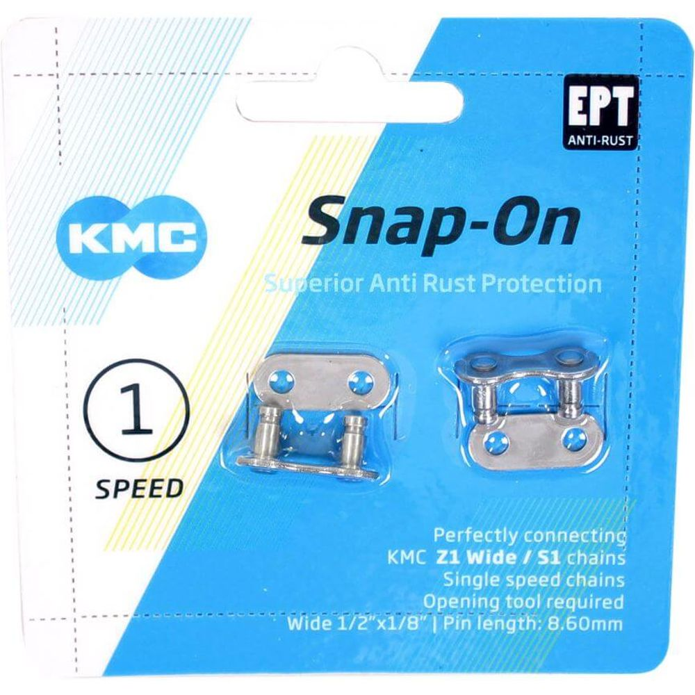 Kmc kettingschakel singlespeed snap-on 1/2x1/8 wid