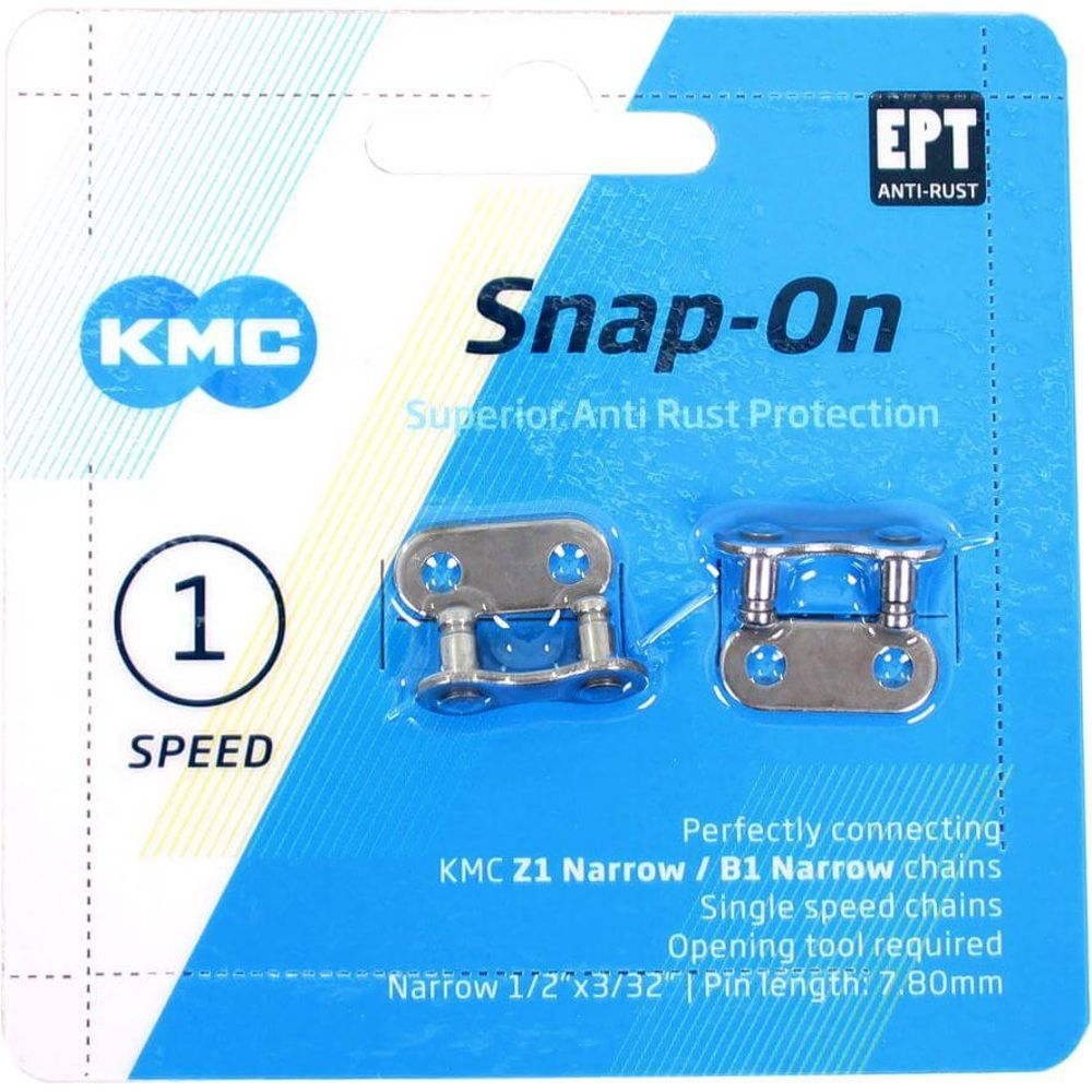 Kmc ketting singlespeedschakel snap-on 1/2x3/32 na