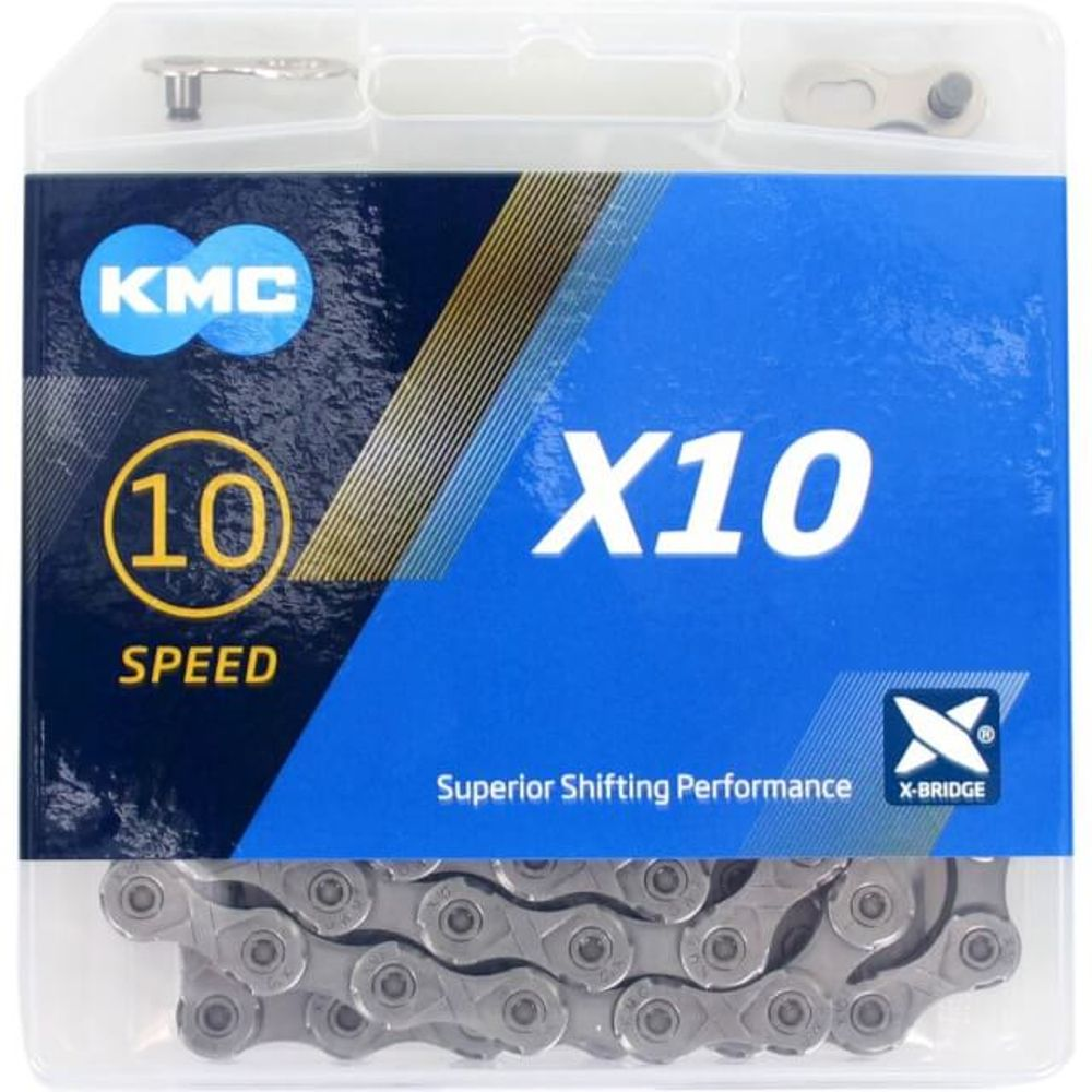 Kmc ketting 10-speed x10 114 links grijs