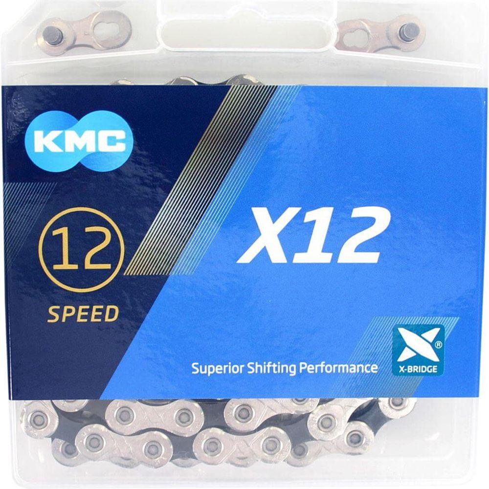 Kmc ketting 12-speed x12 126 links zilver / zwart