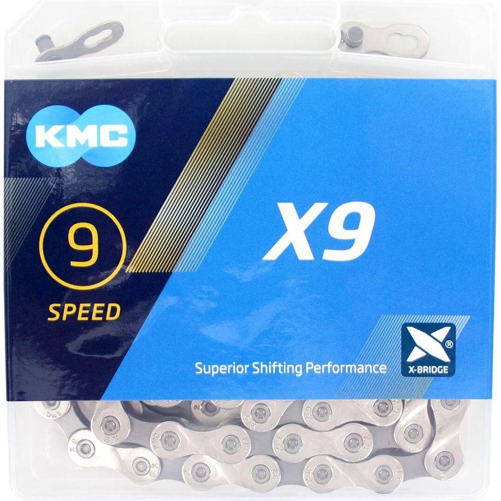 Kmc ketting 9-speed x9 114 links zilver/grijs