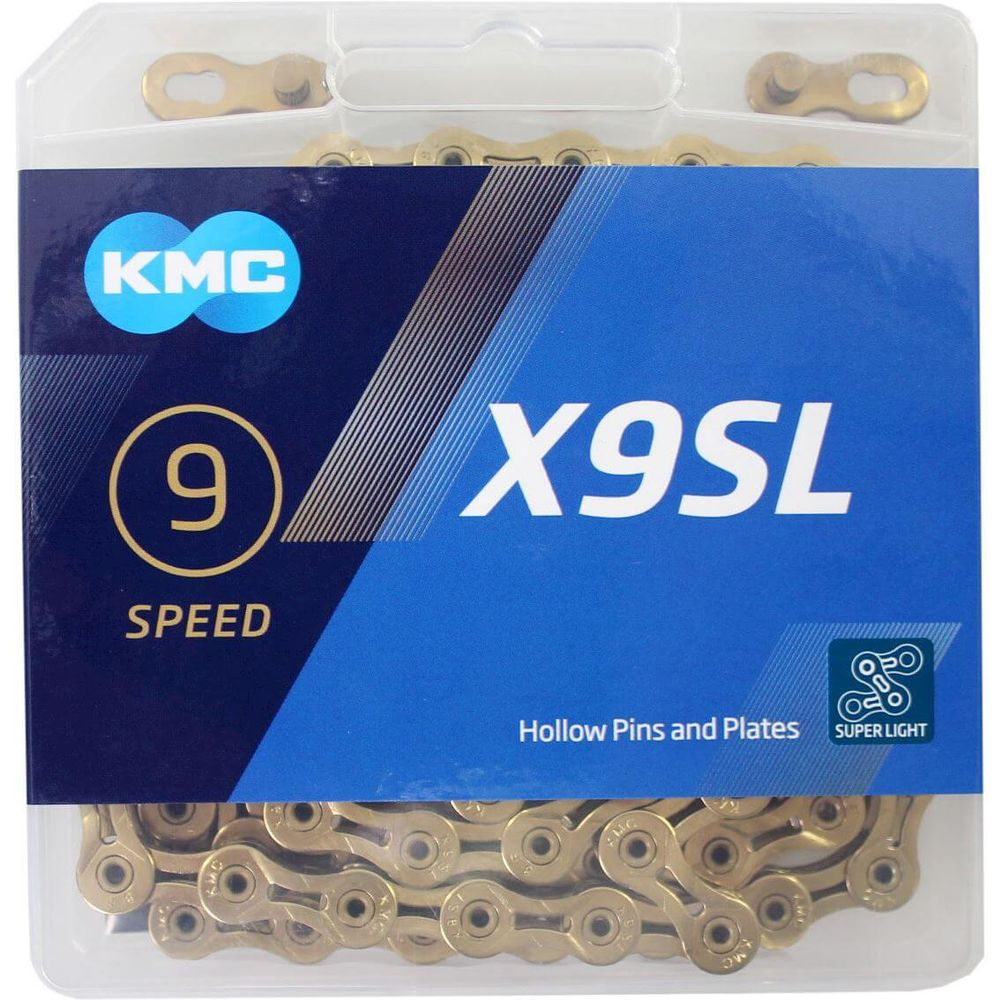 Kmc ketting 9-speed x9sl ti-n 114 links goud