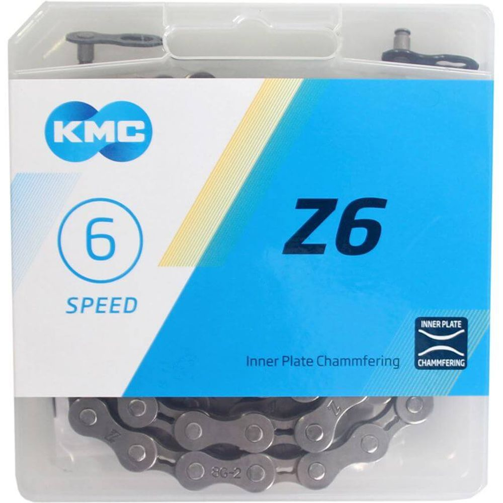Kmc ketting 6-speed z6 grijs 114 links