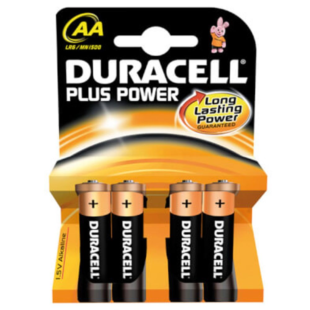 Duracell batterij plus power lr6 aa (4)
