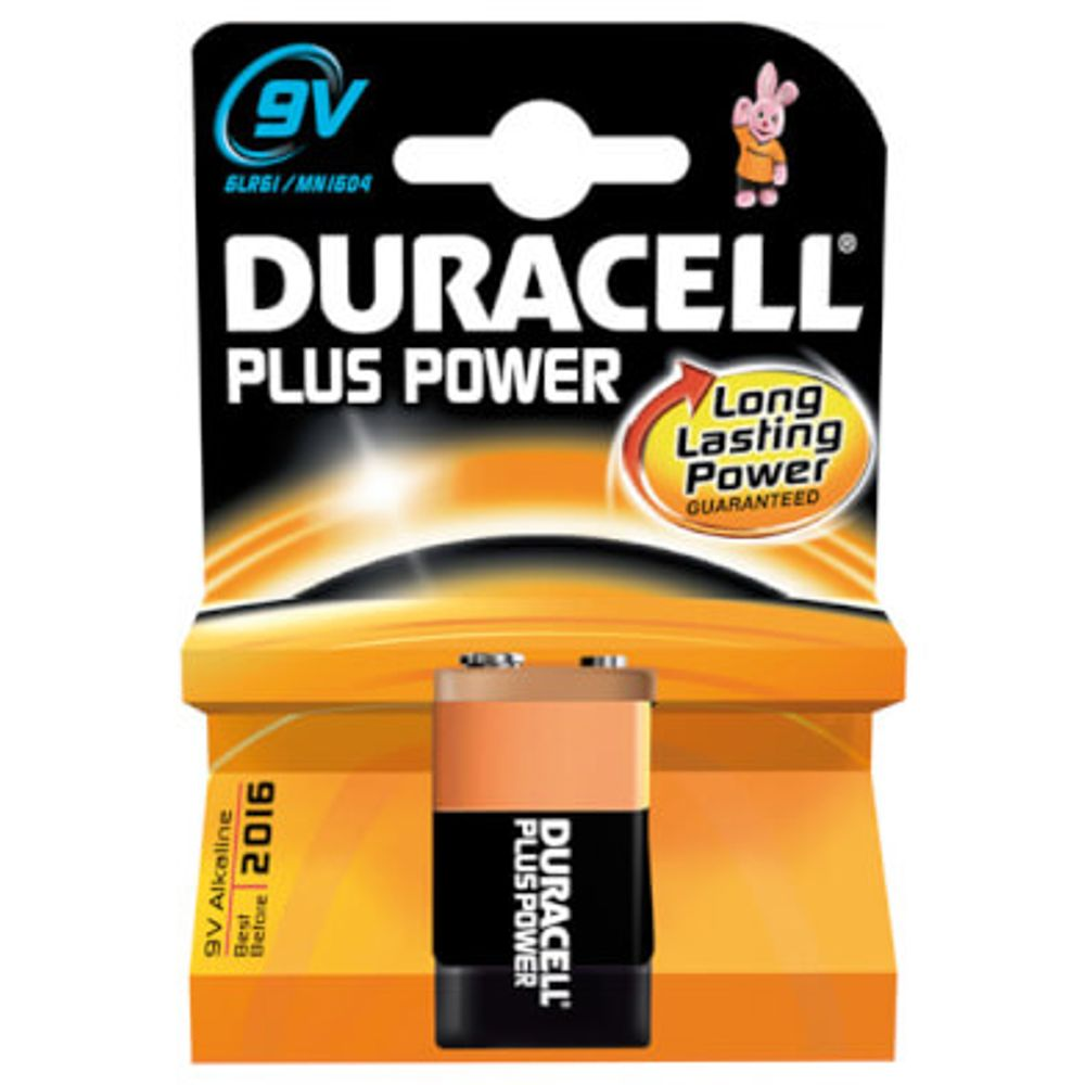 Duracell batterij plus power 6lr61 9v (1)