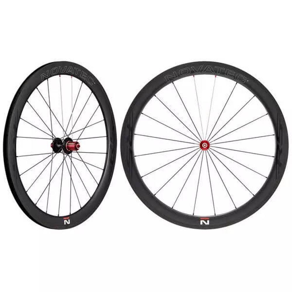 Novatec Wielset Race R5 700C Carbon mat zwart