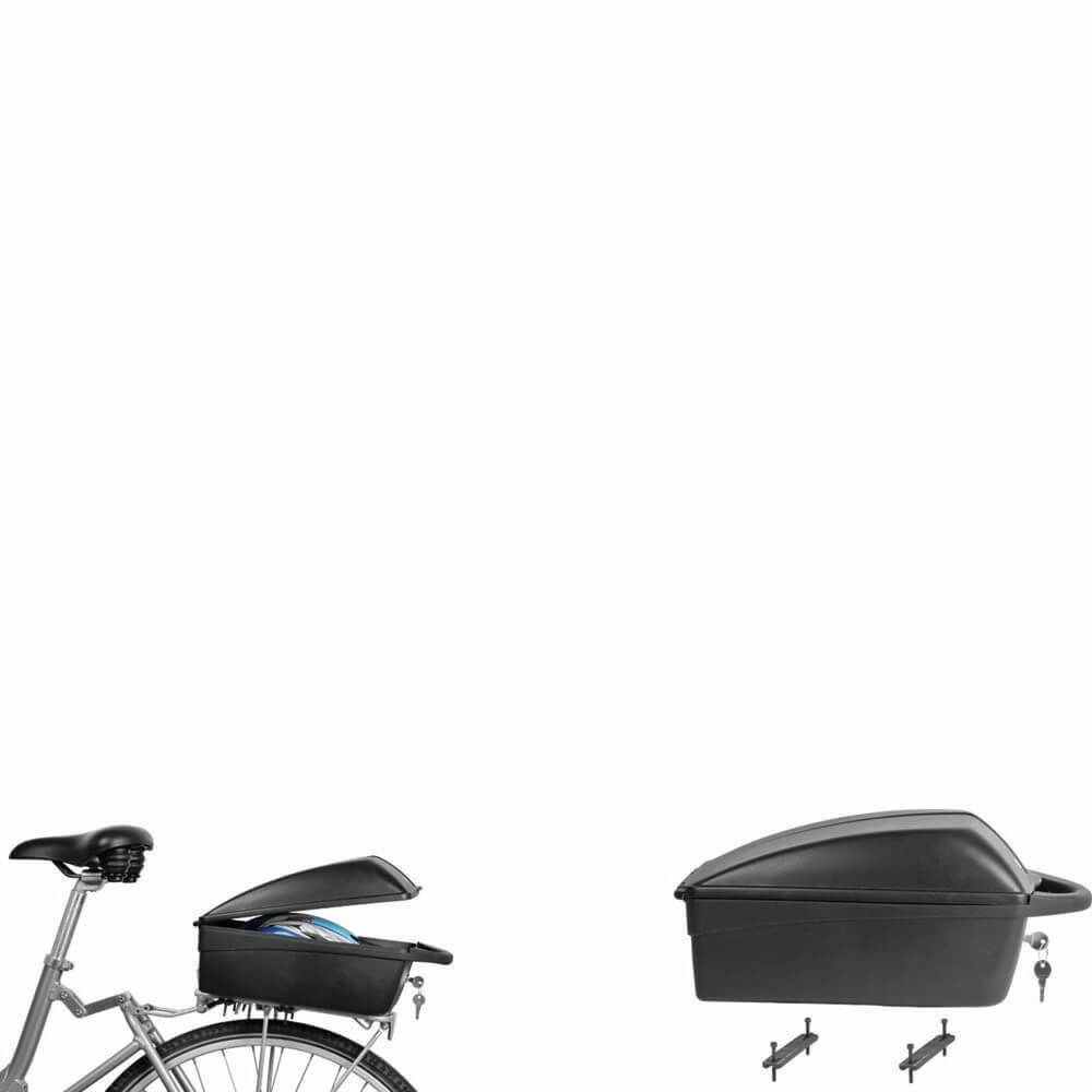 Topkoffer fiets - zwart (vaste montage op drager)