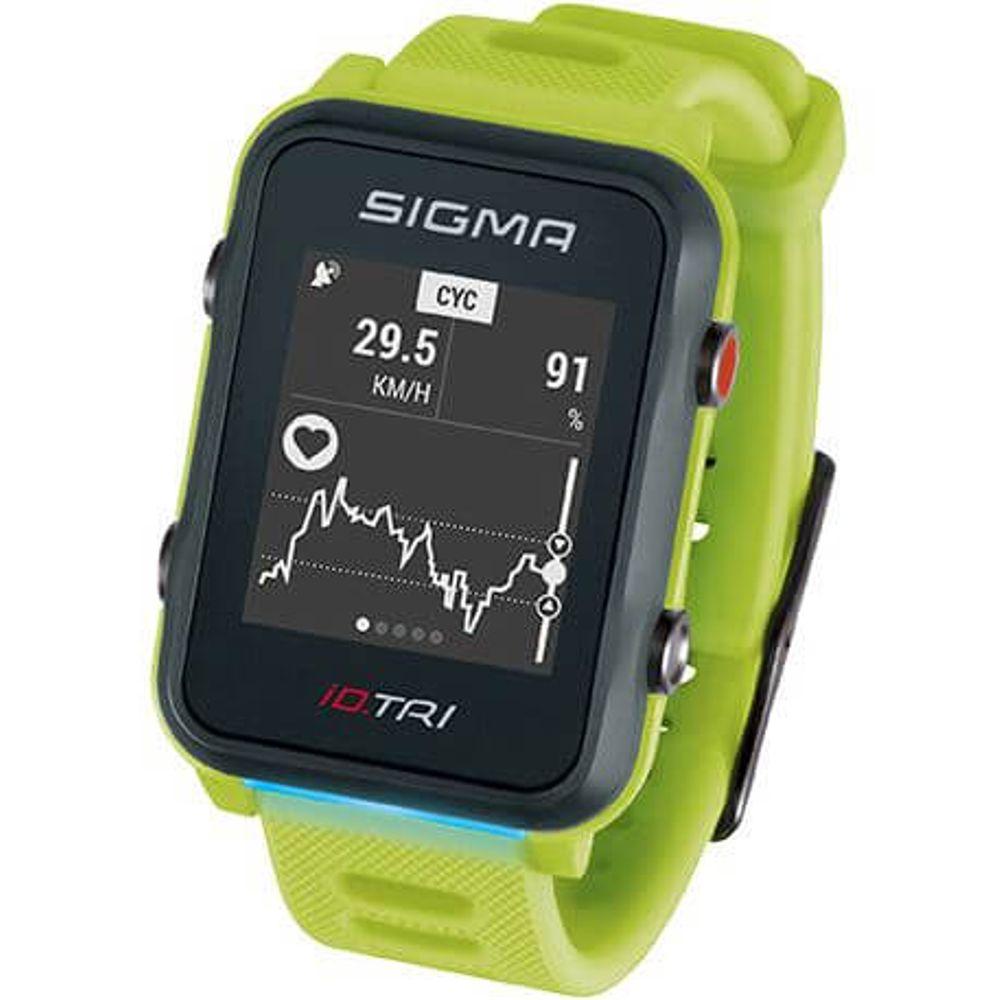 Sigma sporthorloge id.tri neon green