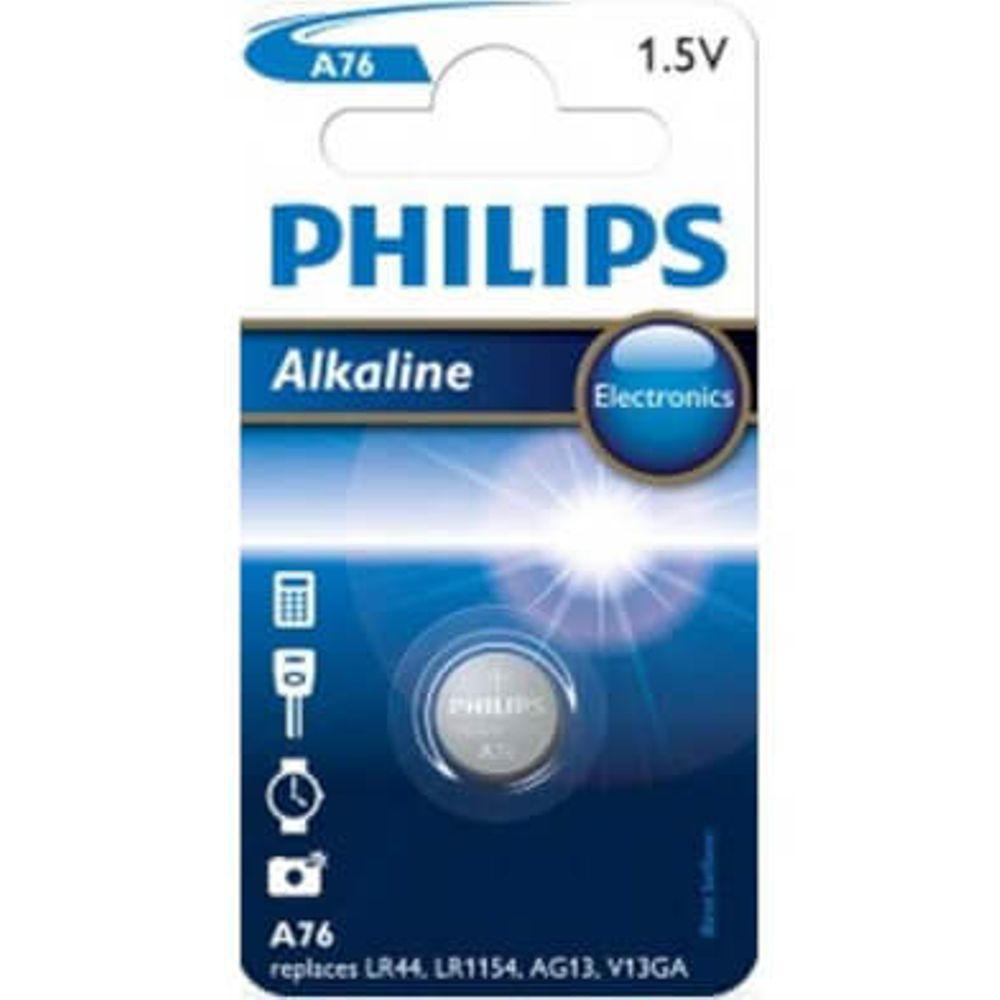 Philips batt A76/LR44 Alk 1,5V BP1