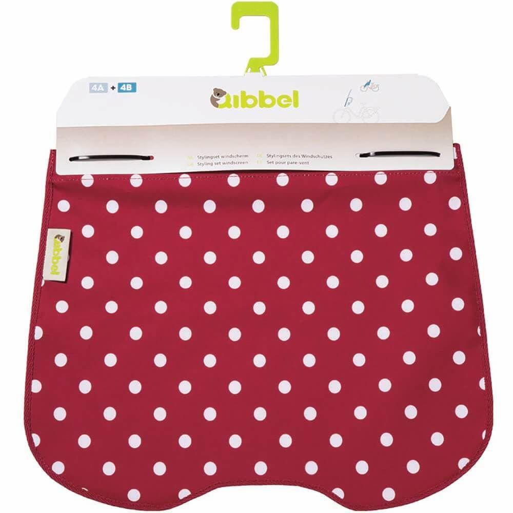 Qibbel windschermflap Polka Dot rood
