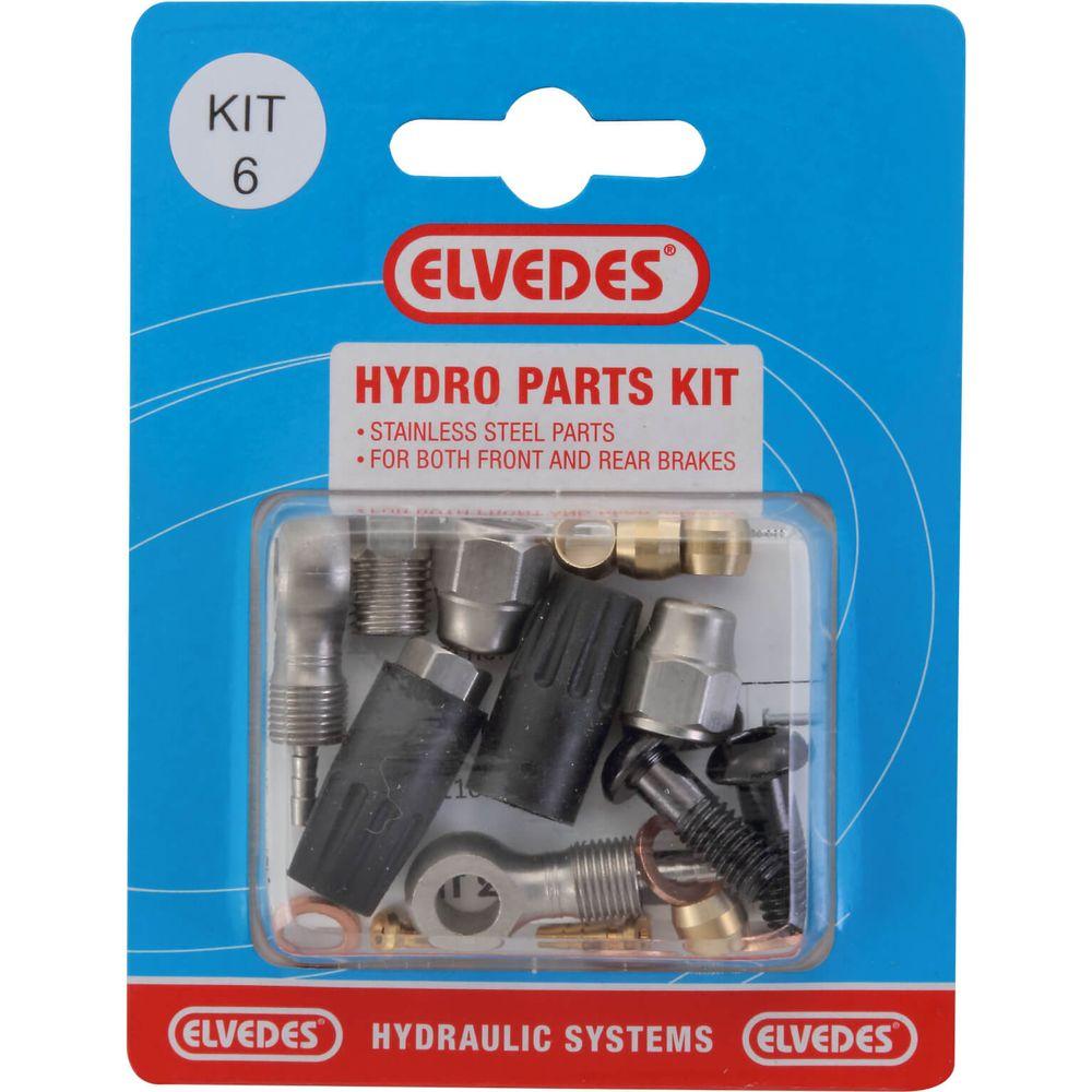 Hydraulische onderdelen Kit 6 M8x1 + banjo RVS
