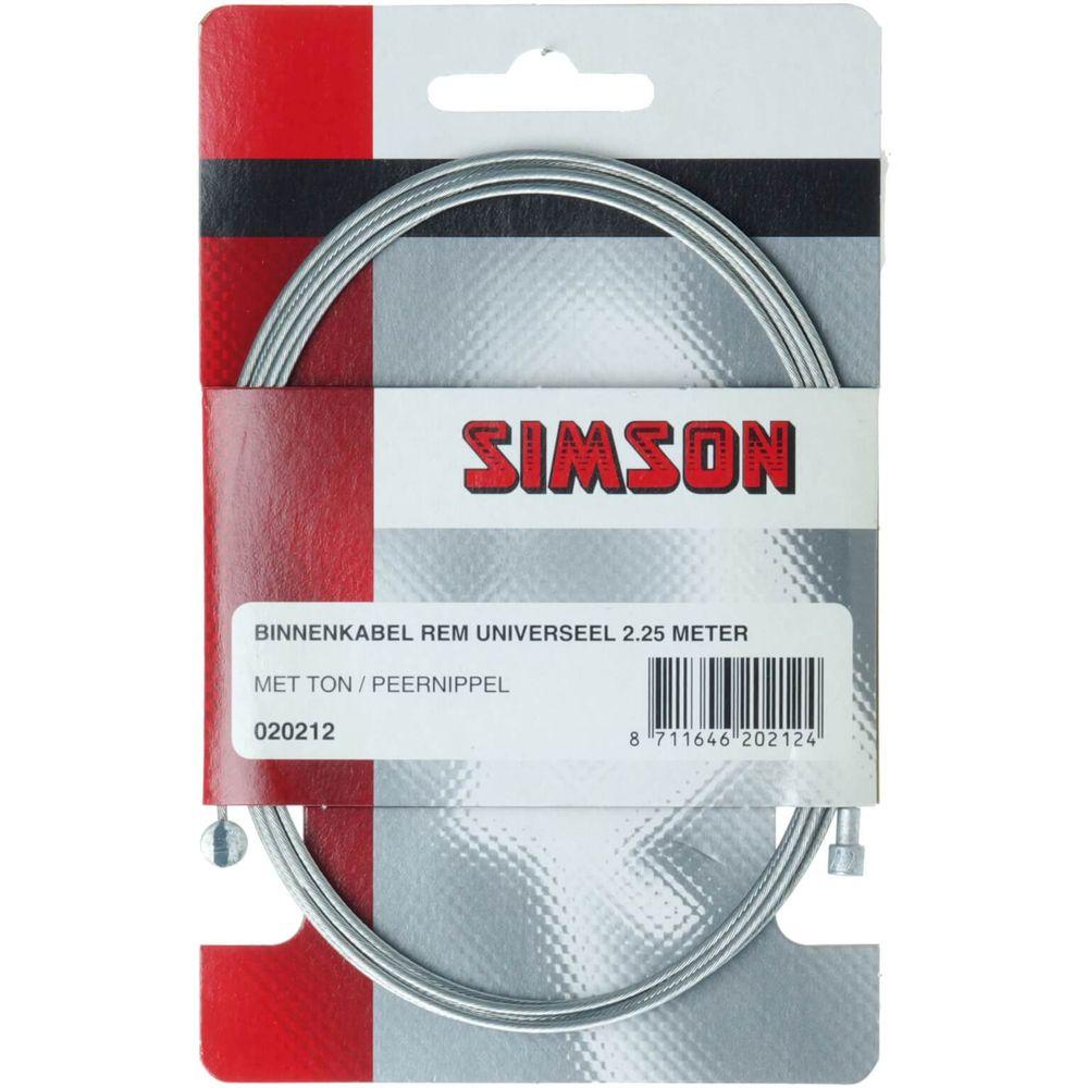 Simson Rem Binnenkabel - 2 nippels -  universeel
