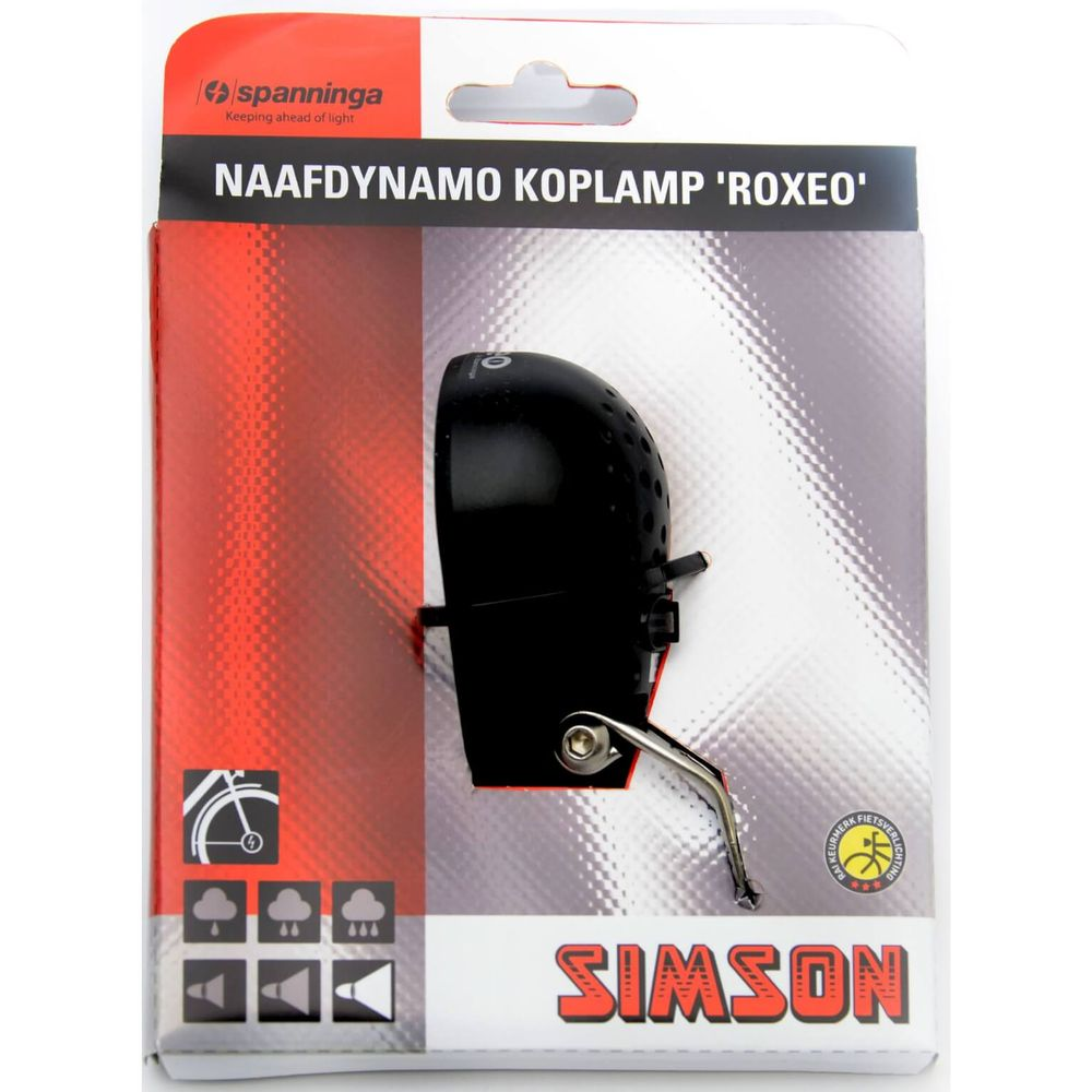 Lamp v simson spanninga (naaf)dynamo roxeo xda on/