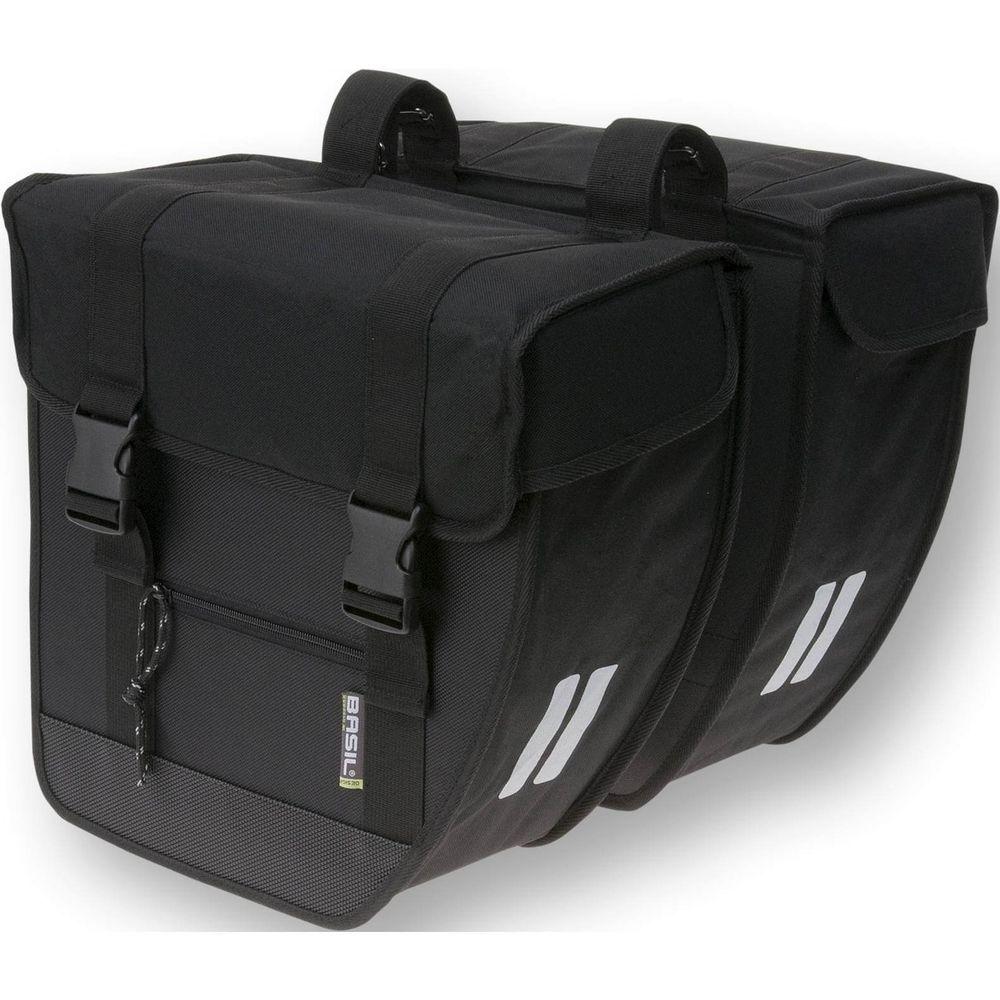 Basil dubbele tas Tour XL zwart