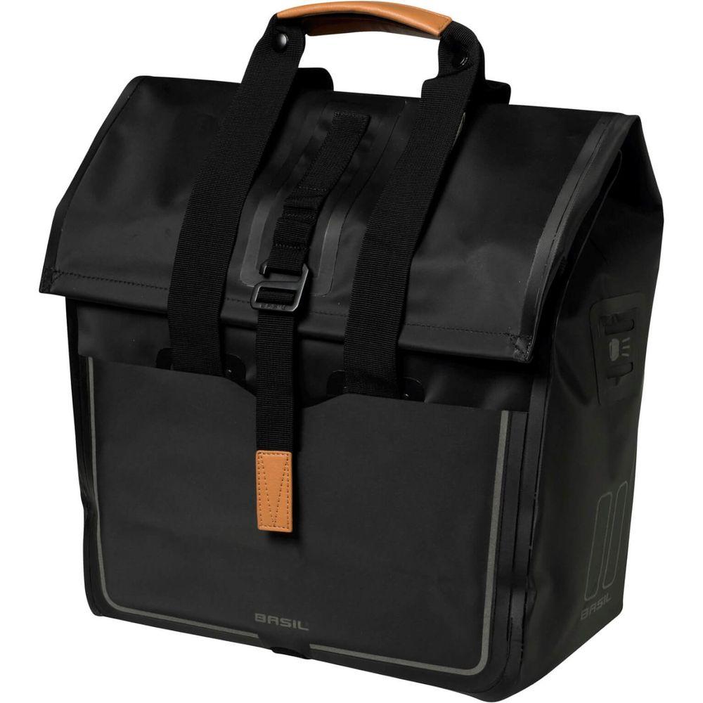 Basil Urban Dry fietsshopper 20 liter - matt black