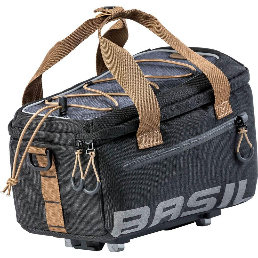 Basil bagagedragertas Miles trunkbag grijs/zwart MIK