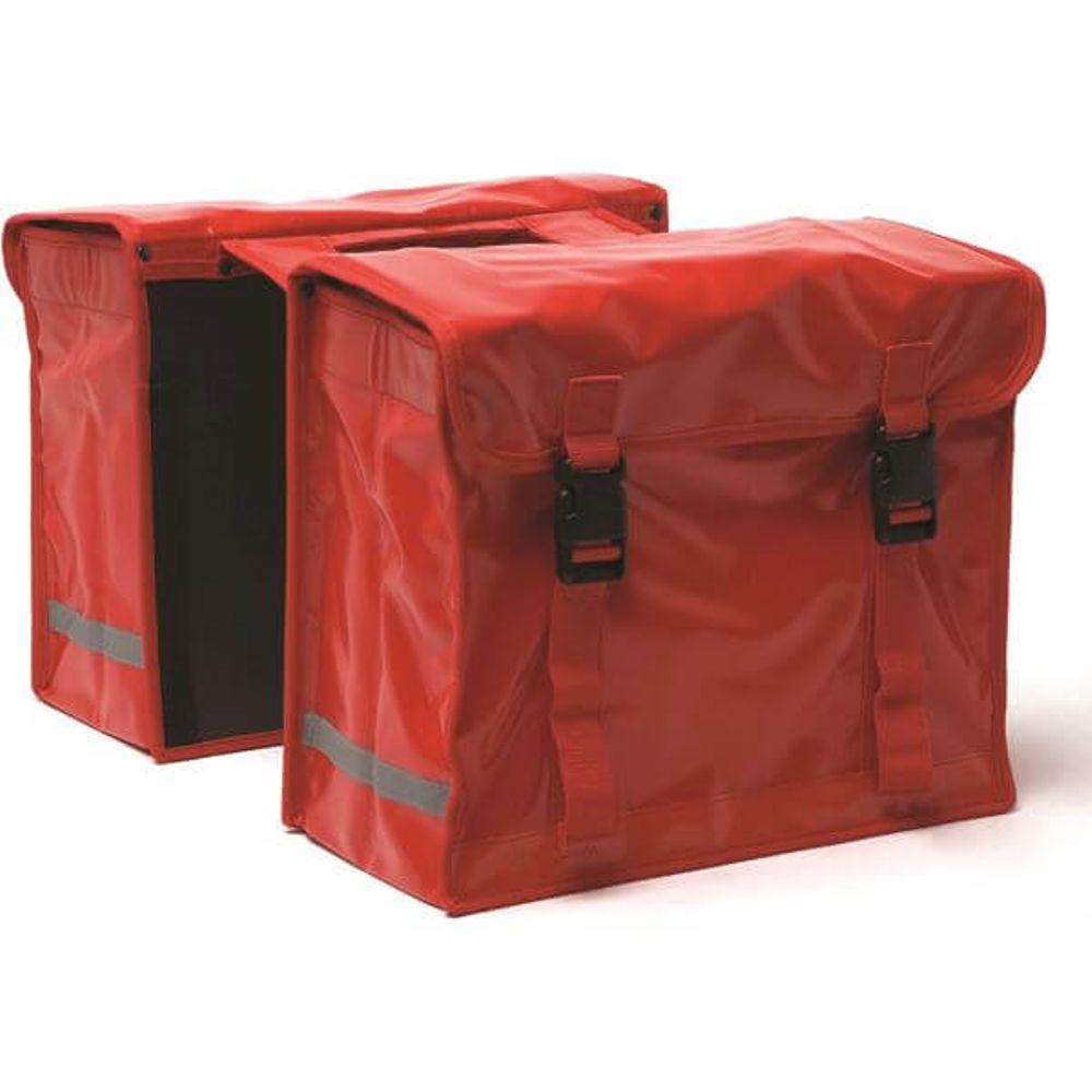New Looxs dubbele tas bisonyl rood