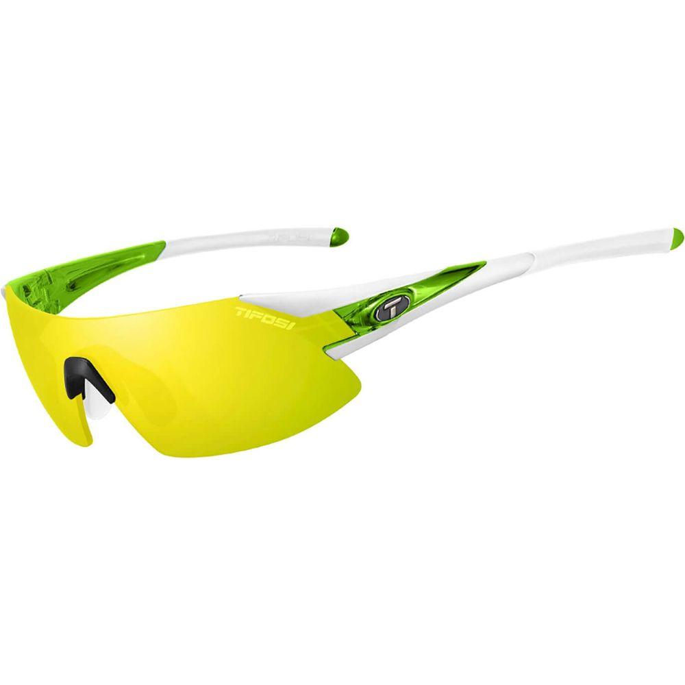 Tifosi bril Podium XC wit/groen clarion geel