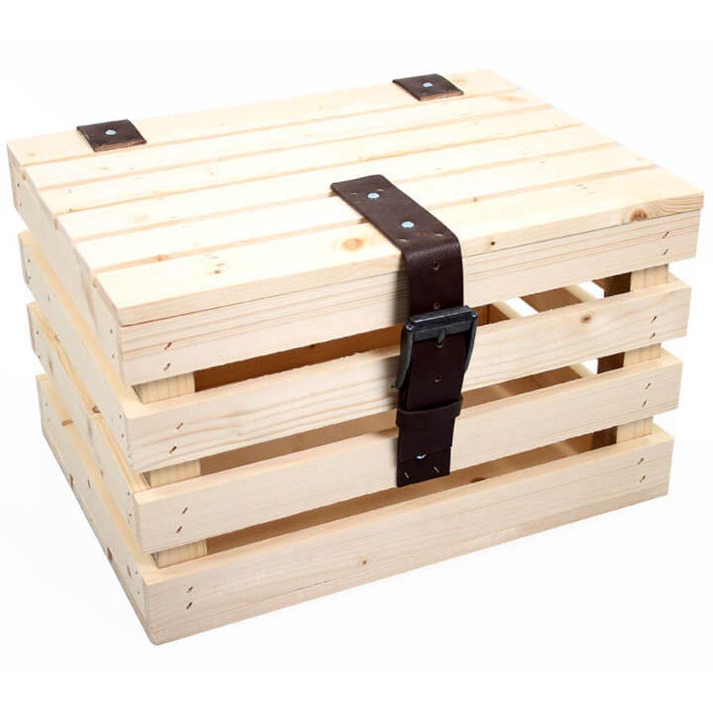 Transport krat Blank vuren hout +deksel