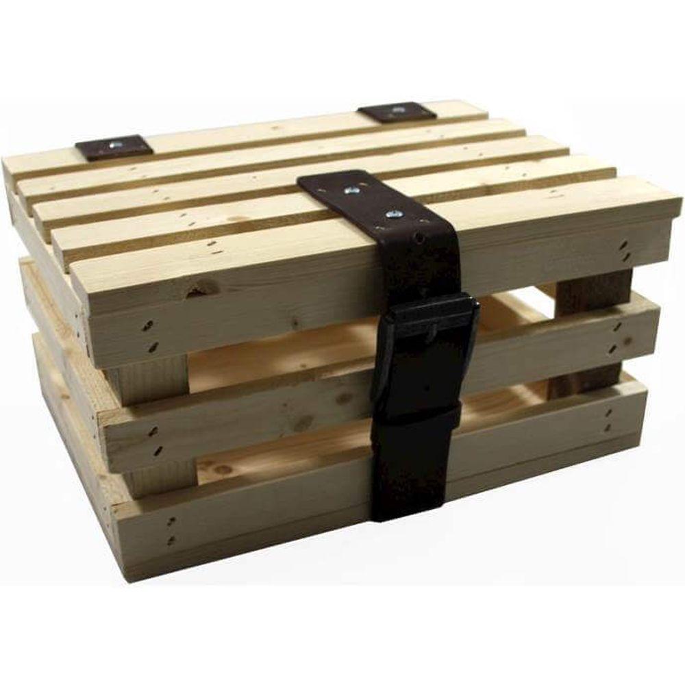 Transport krat mini blank vuren hout +deksel