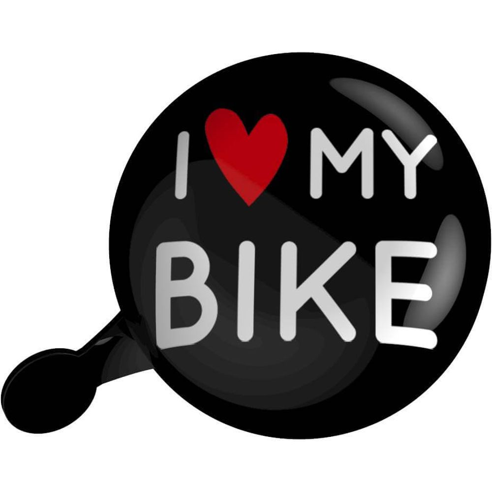 Urban Proof Dingdong bel 80mm I Love My Bike zwart