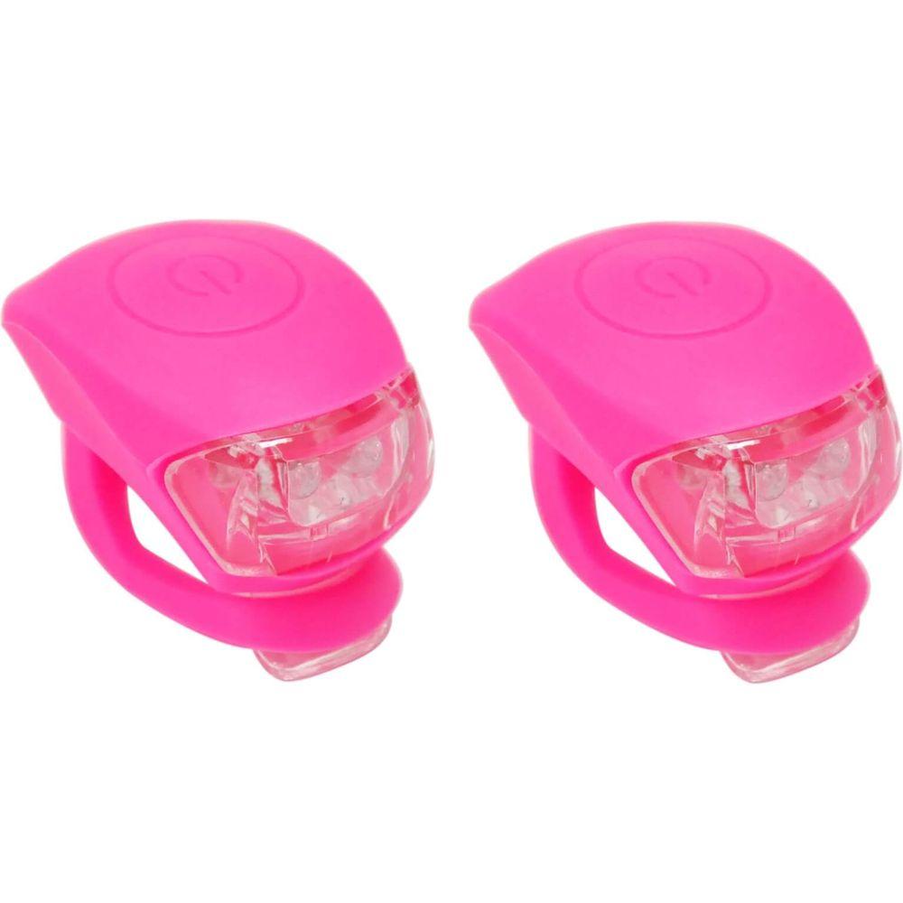 UP Siliconen LED Fietslampjes set Pink
