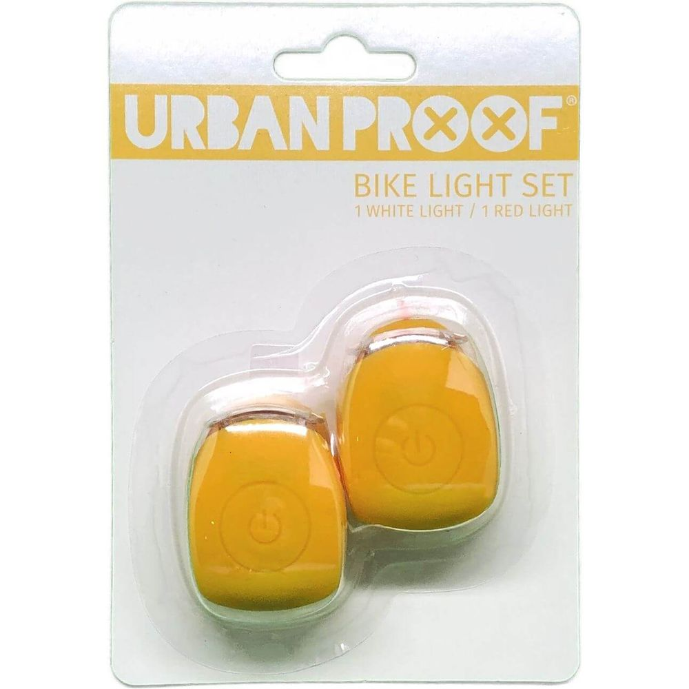 UP Siliconen LED Fietslampjes set Ochre yellow