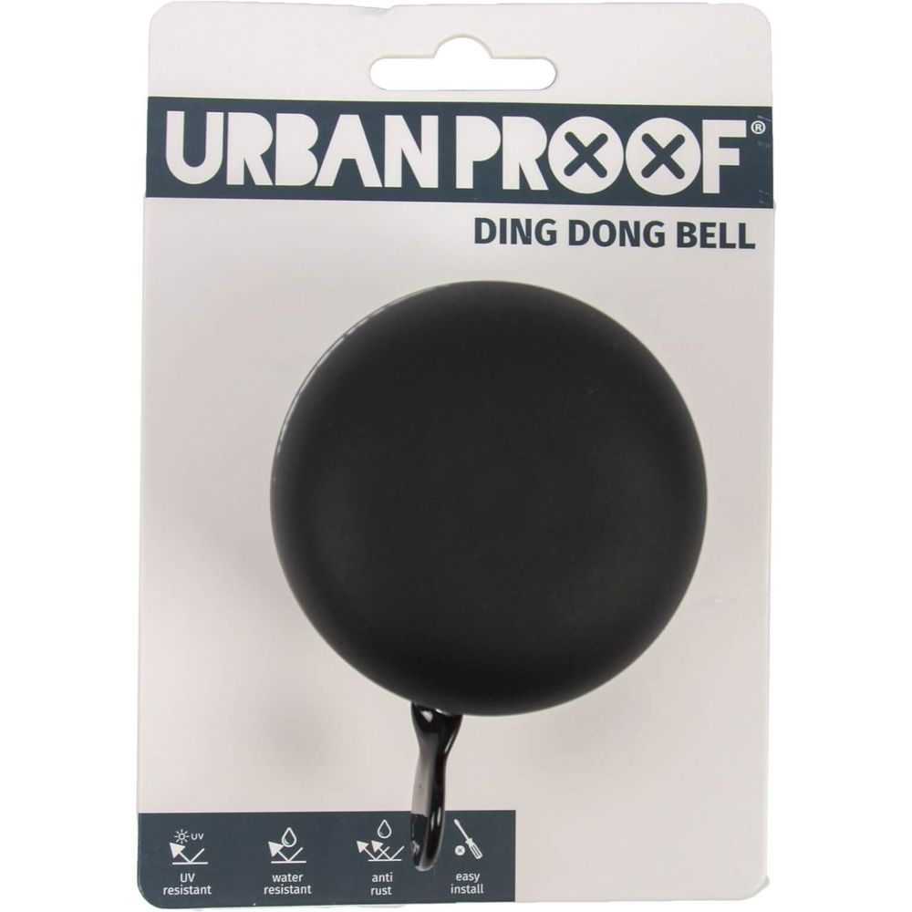 Urban Proof bel Ding Dong 60mm mat zwart / grijs