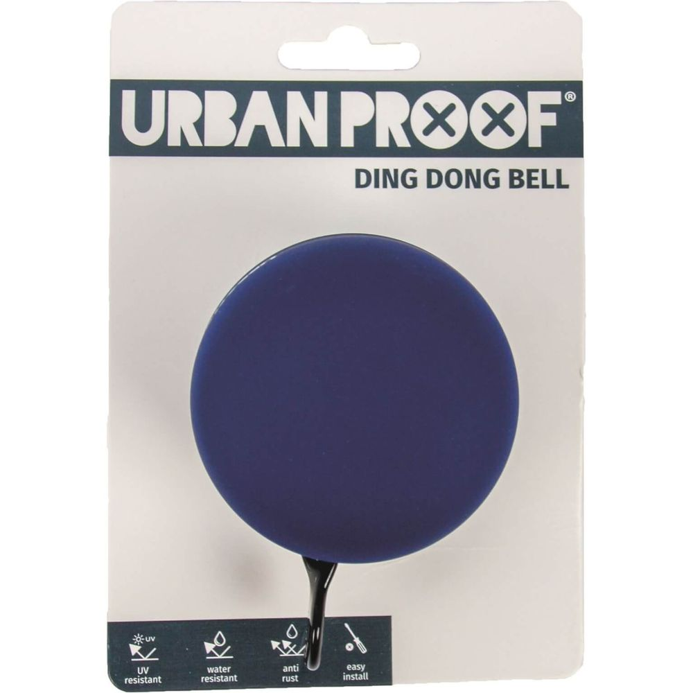 Urban Proof bel Ding Dong 60mm mat blauw / groen
