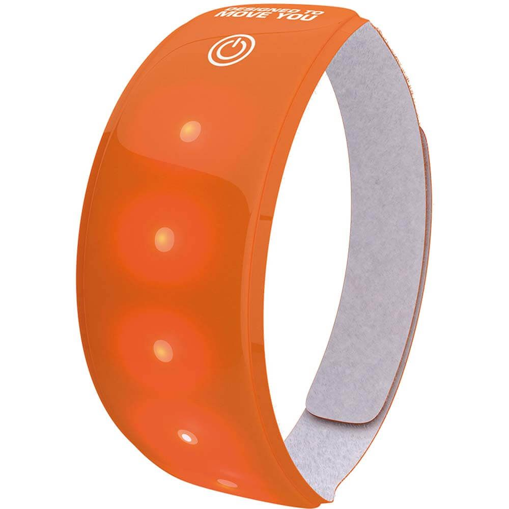 REFLECTIE WW LIGHTBAND M/RODE LED ORANJE XL
