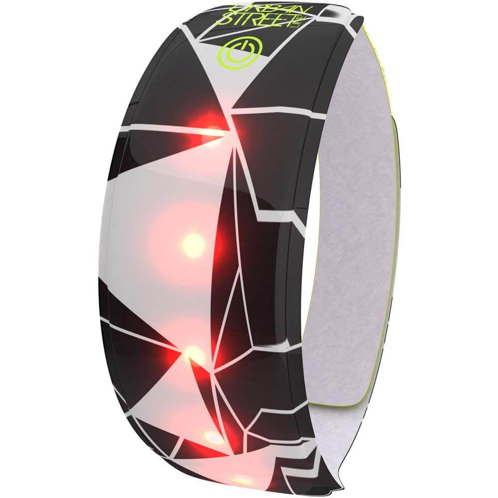 Wowow Lightband Urban wit 3M XL Rode LED