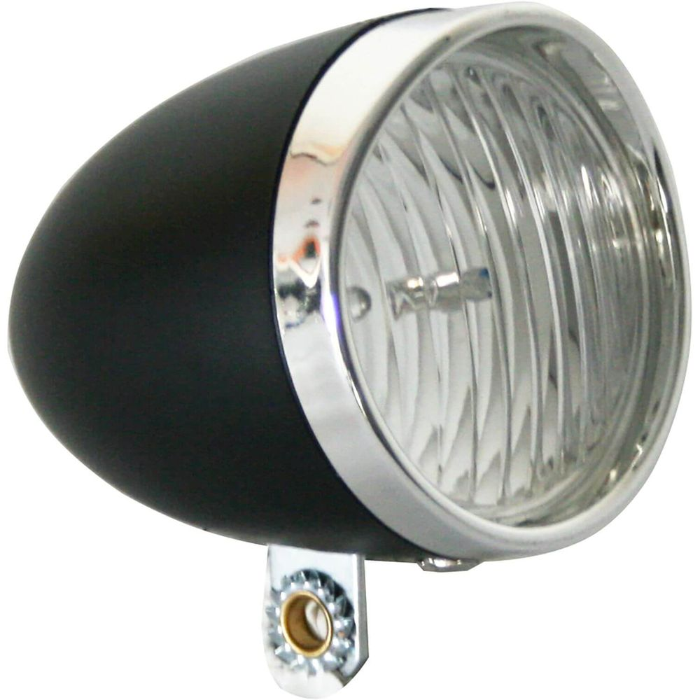 Lamp v led light 3led koplamp retro zwart
