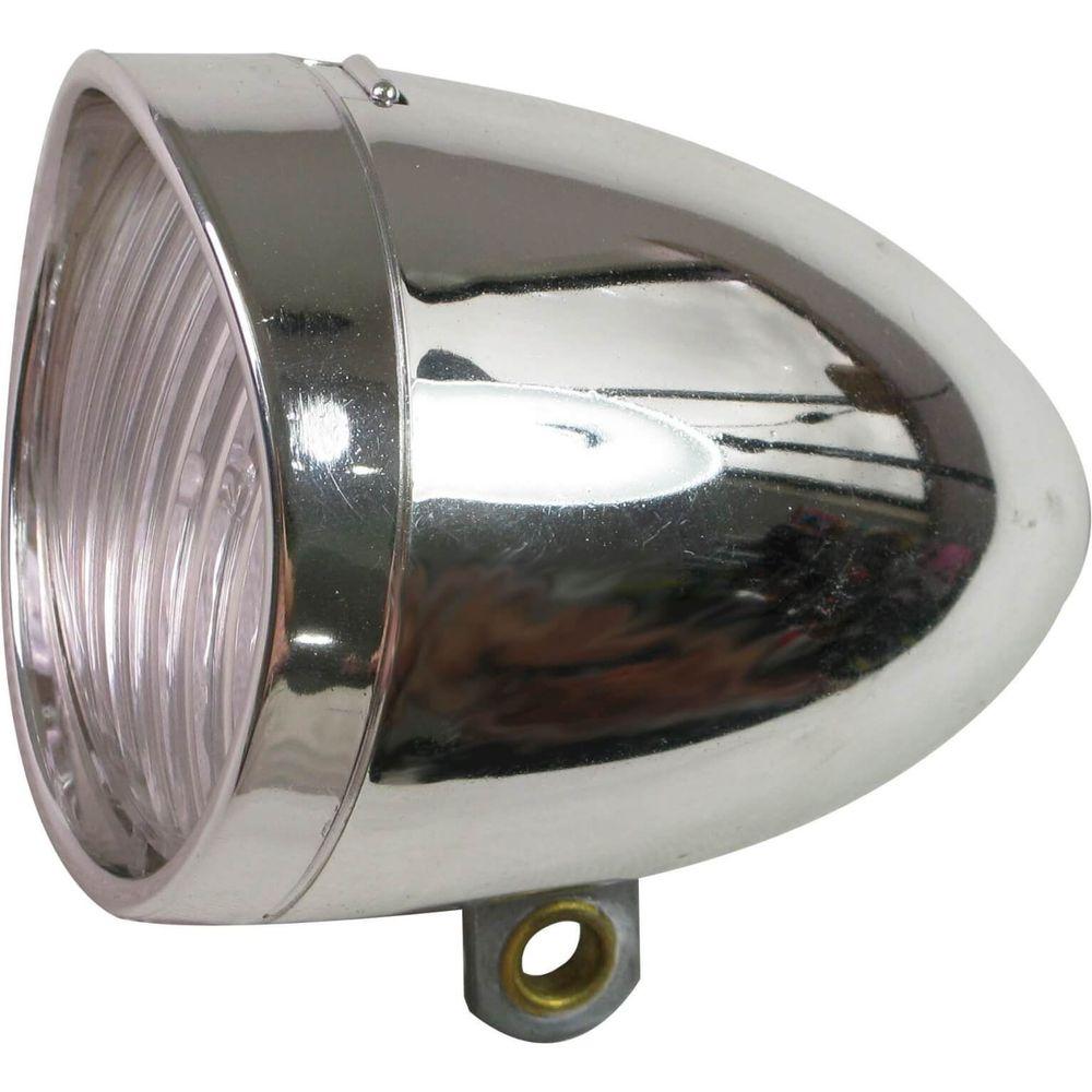 Lamp v led light 3led koplamp retro chroom