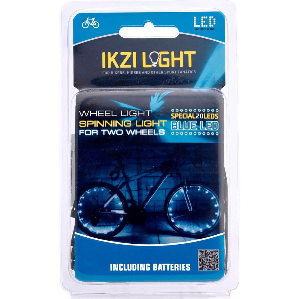 IKZI Light wiellicht Spinning light 20 led batterij blauw