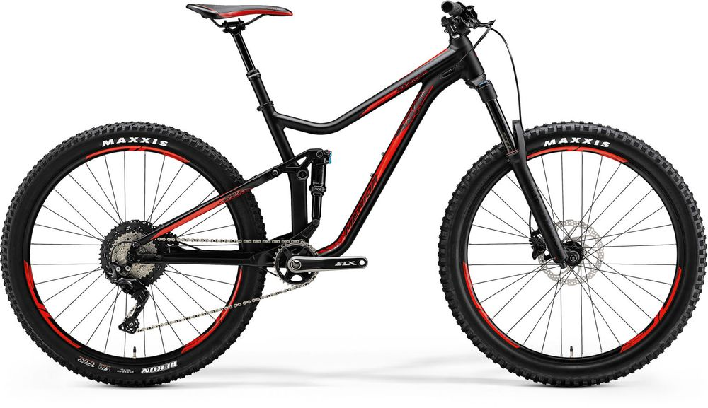 ONE FORTY 700 MATT BLACK/SHINY RED M 17