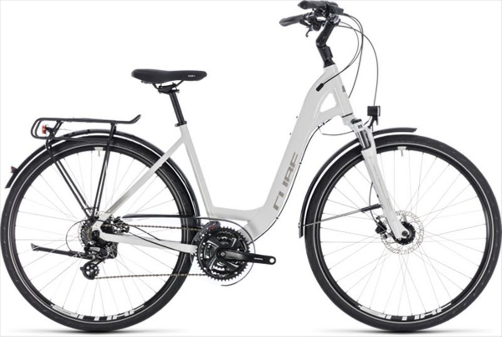 CUBE TOURING PRO WHITE/SILVER 2018 EE 49 CM